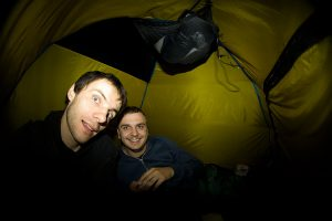 Мы в палатке и кажется уже спим.