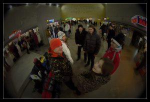 Встреча на ленинградском вокзале.