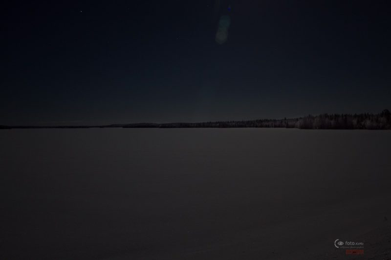 Карельский разливы в лунном свете.